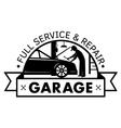 auto center garage service and repair logo