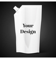 Blank spout pouch bag foil or plastic packaging vector image