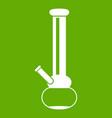 bong for smoking marijuana icon green vector image vector image