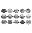 brewery badge draft beer barrel emblem retro vector image