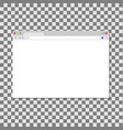 browser window isolated on transparent background vector image