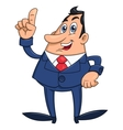 Businessman has an idea 2 vector image vector image