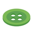 Button 3d isometric icon vector image vector image