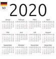 calendar 2020 german sunday vector image vector image