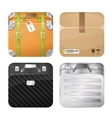 Cases and parcel vector image