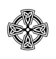 celtic cross symbol on white background vector image vector image