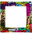 Colorful modern frame vector image vector image