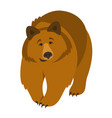 cute smiling grizzly bear cartoon vector image vector image