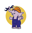 elephant with wrench vector image vector image