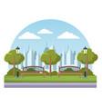 empty city park vector image vector image