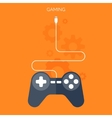 Flat joystick iconGaming background vector image