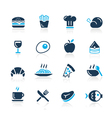 Food icons 1 azure series vector | Price: 1 Credit (USD $1)