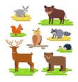 forest animals set flat