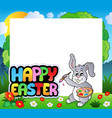 frame with easter bunny theme 7 vector image vector image