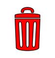 Garbage icon vector image vector image