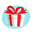 gift box with red ribbon and bow design concept vector image