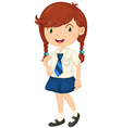 Girl in school dress vector image