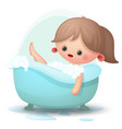 girl taking a bath vector image vector image
