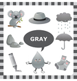 Gray color vector image vector image