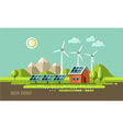 Green energy ecology environment vector image