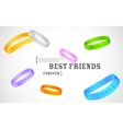 Happy Friendship Day Greetings vector image vector image