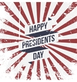 Happy Presidents Day Ribbon and Text vector image