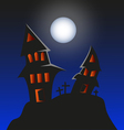 Haunted Monster house - Halloween background vector image vector image