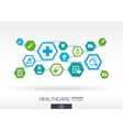 Hexagon abstract Medicine background vector image vector image