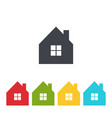 House icon set image vector image