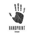human palm handprint icon logo emblem vector image vector image