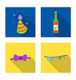 isolated object of party and birthday symbol vector image