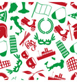 italy country theme various icons seamless pattern vector image vector image