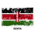 kenya flag design vector image