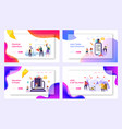 learn today lead tomorrow landing page set vector image vector image