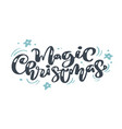 magic christmas vintage calligraphy lettering vector image