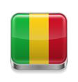 Metal icon of Mali vector image vector image