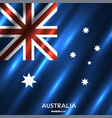 national australia flag background vector image vector image