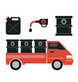 Oil transport gas station and refinery vector image vector image