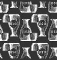 pattern with bottles japanese alcohol vector image