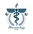 pharmacy caduceus icon medical corporate logo for vector image