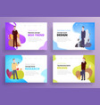 presentation slide templates or hero banner images vector image vector image