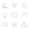 Production of energy icons set outline style vector image vector image