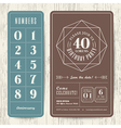 Retro birthday party invitation card