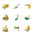 Road building tools icons set cartoon style vector image vector image