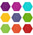 rotation loop icons set 9 vector image