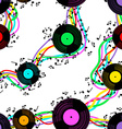 Seamless pattern of vinyl vector image vector image