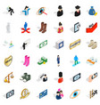 selfie icons set isometric style vector image vector image