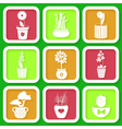 Set of 9 icons of different plants vector image vector image