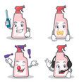 set of cleaner character with automotive silent vector image vector image