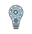 simple light bulb with gear wheels vector image vector image